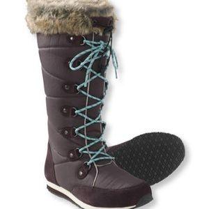L.L.Bean Carrabassett Winter Snow Boots Brown 9